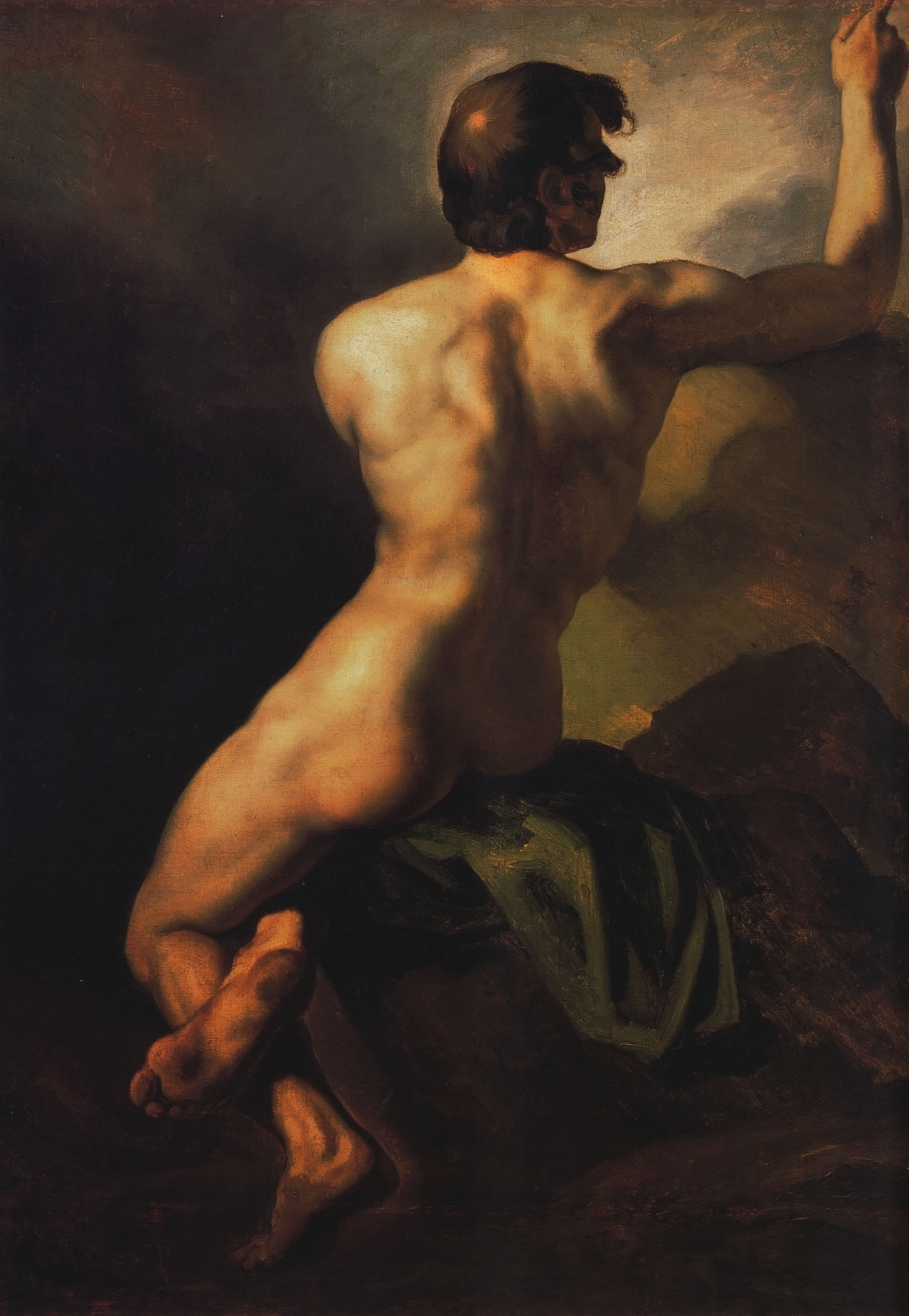 Teodor Žeriko 1318168805_1812-1816-gricault-acadmie-dhomme-assis-vue-de-dos-huile-sur-toile-895x64-cm-bruxelles-muses-royaux-des-beaux-arts
