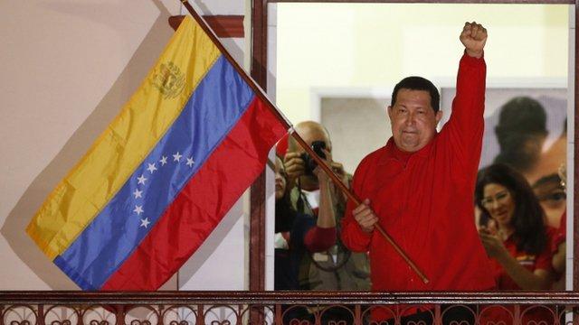 Venezwelyen remete Chavez lan prezidans peyi yo. Bali Bwa Chavez. _63350395_63350394