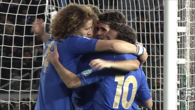 Chelsea marked their Club World Cup debut with a comfortable victory over Mexican side Monterrey to secure their place in Sunday's final.  _64741065_chelsea3-0