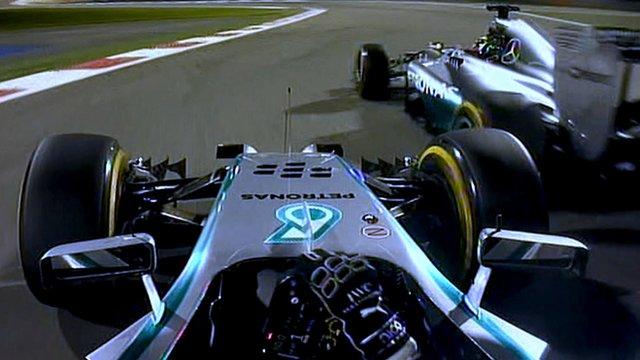 Nico Rosberg cleared after Monaco pole investigation  _74074642_mercedesduel