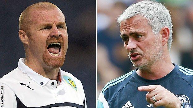 Chelsea v Burnley: Jose Mourinho out to break down defensive teams _77008264_dyche_mourinho_getty