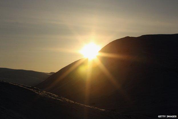 Why do mornings still get darker after the winter solstice? _79847552_glen-shee