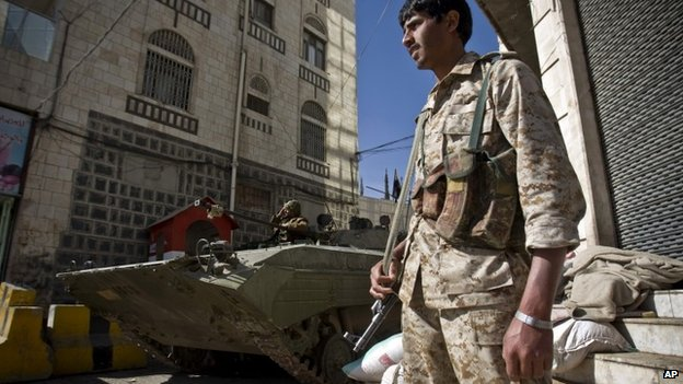 Yemen crisis: President resigns as rebels tighten hold _80459517_80457484
