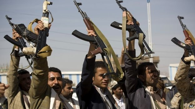Yemen crisis: President resigns as rebels tighten hold _80459523_80459522