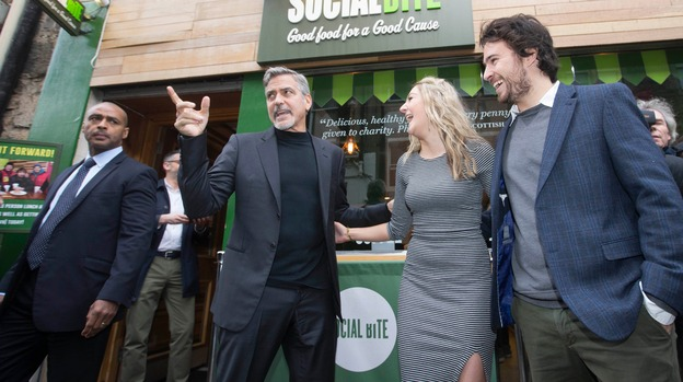 George Clooney helps launch Feed the Homeless at Christmas campaign Dec 14, 2015 Image_update_img