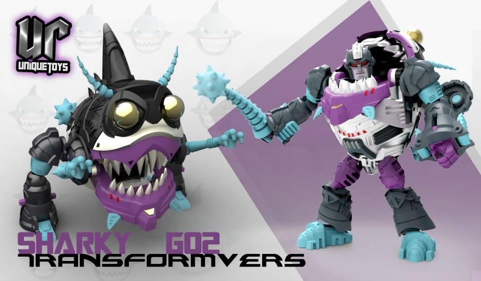 Produit Tiers: [Corbot V] CV-002 Mugger - aka Allicon   [Unique Toys] G-02 Sharky - aka Sharkticon/Requanicon 1374970_1459224590969826_2128780873_n_1382394402