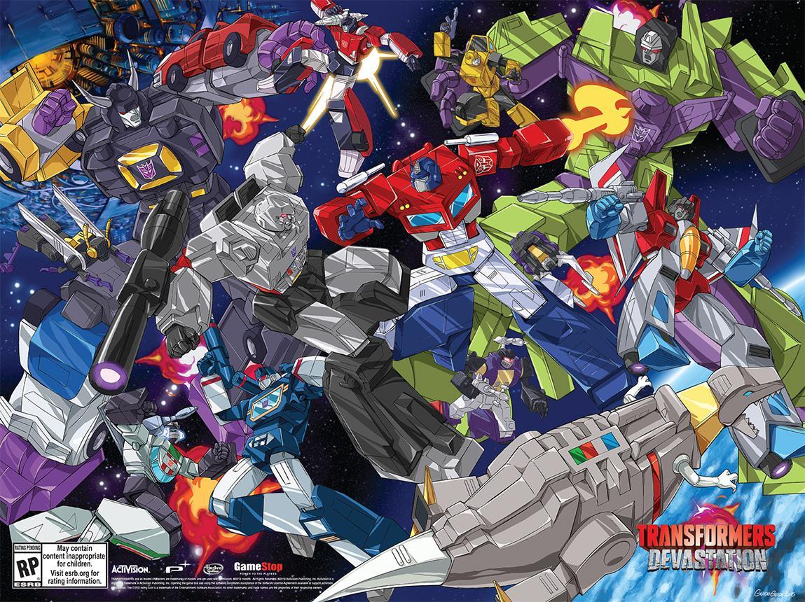 [Jeu Vidéo] Transformers: Devastation sur PS4, PS3, XBoxOne, Xbox360 et PC Transformers-Devastation-Poster2