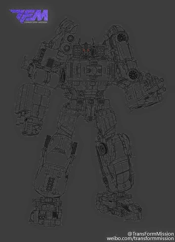 [Transform Mission] Produit Tiers - Jouet M-01 AutoSamurai - aka Menasor/Menaseur des BD IDW TransformMission-Menasor-lineart