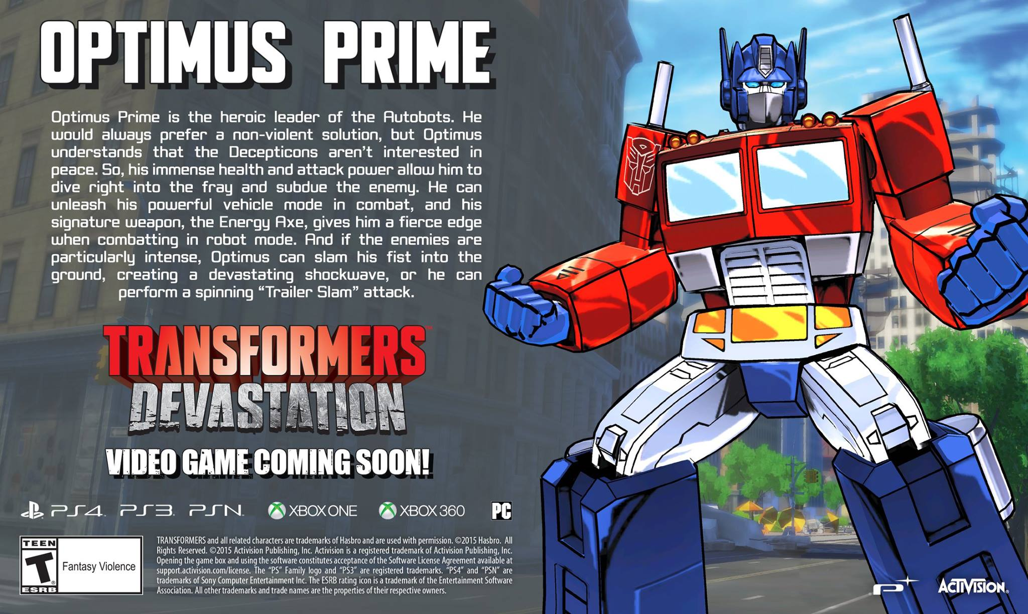 [Jeu Vidéo] Transformers: Devastation sur PS4, PS3, XBoxOne, Xbox360 et PC - Page 4 Transformers-Devastation-Video-Game-Optimus-Prime-Character-Profile