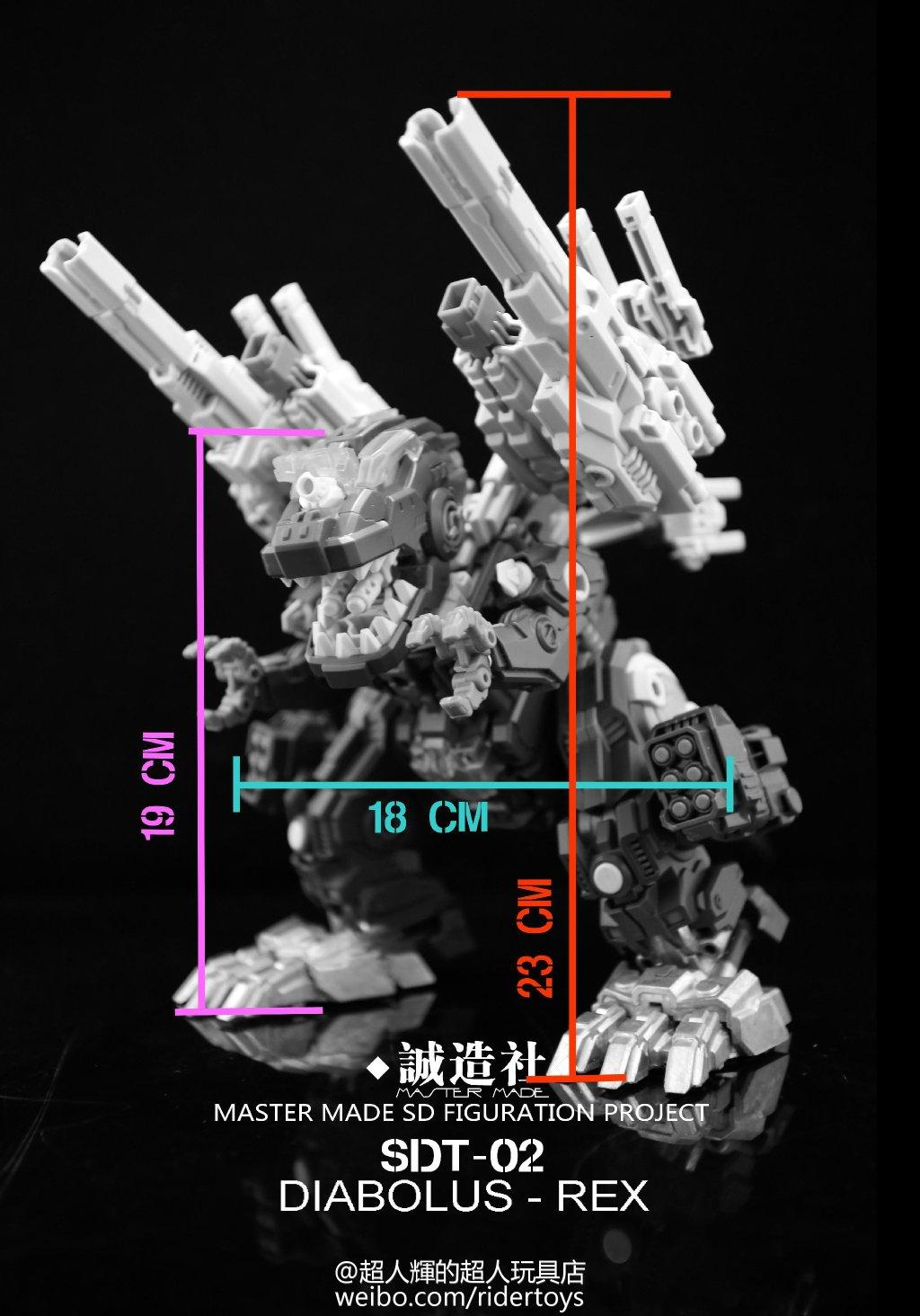 Produit Tiers - Figurine miniature déformé (transformable) - Par: Hero Hobby + MiniPower + Master Made Diabolus-Rex-07