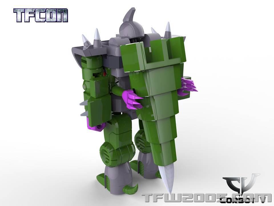 Produit Tiers: [Corbot V] CV-002 Mugger - aka Allicon   [Unique Toys] G-02 Sharky - aka Sharkticon/Requanicon TFCon-USA-2015-052