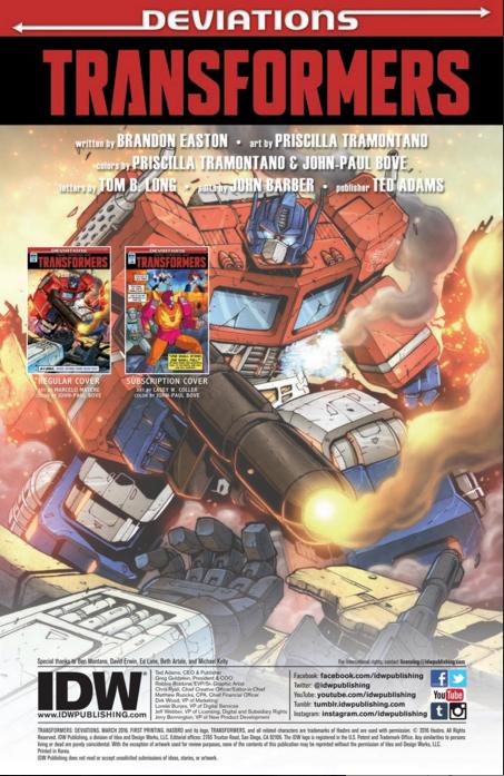 Comics/BD Transformers en anglais: Marvel Comics, Dreamwave Productions et IDW Publishing - Page 32 Deviations-02