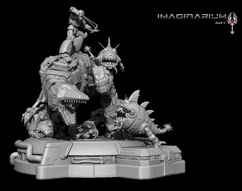 Statues Transformers G1 ― Par Pop Culture Shock, Imaginarium Art, XM Studios, etc Imaginarium-Art-Grimlock-Statue
