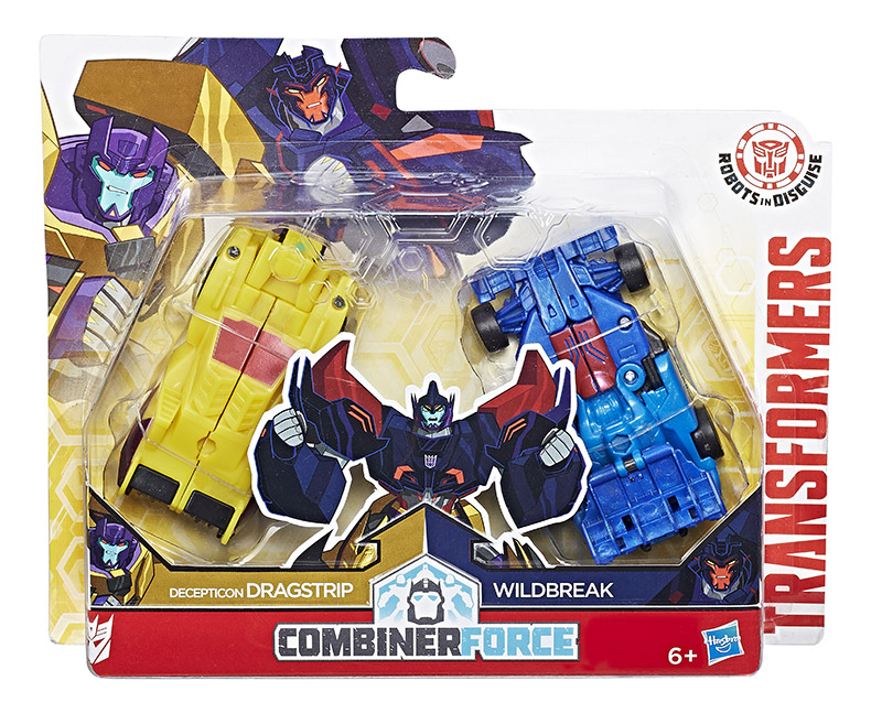 Transformers RID Robots in Disguise 2017 Combiner Force Dragstrip /& Wildbreak