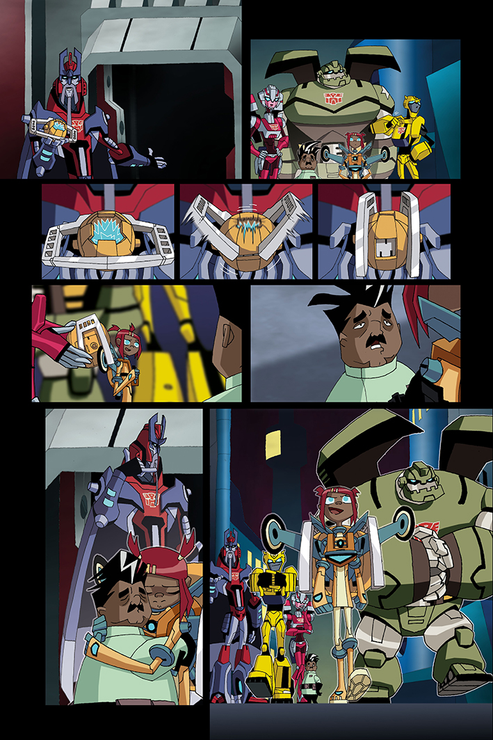 Saison 4 de TF Animated: BD Fun Publications (BotCon), BD ReAnimated Trial & Error (TFNation), etc. TFNation-ReAnimated-2
