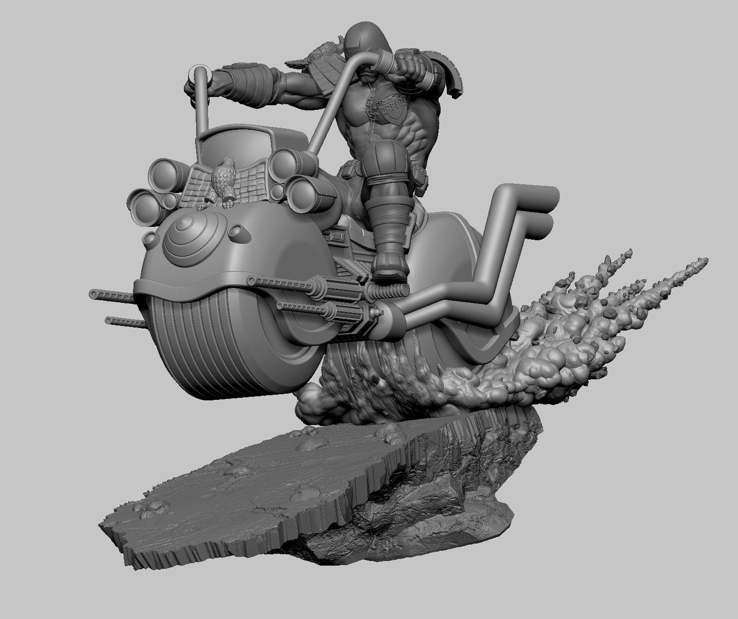 [Pop Culture Shock] Judge Dredd On Motorcycle statue - 1/5 Diorama Judge-Dredd-on-Motorcycle-PCS-Statue