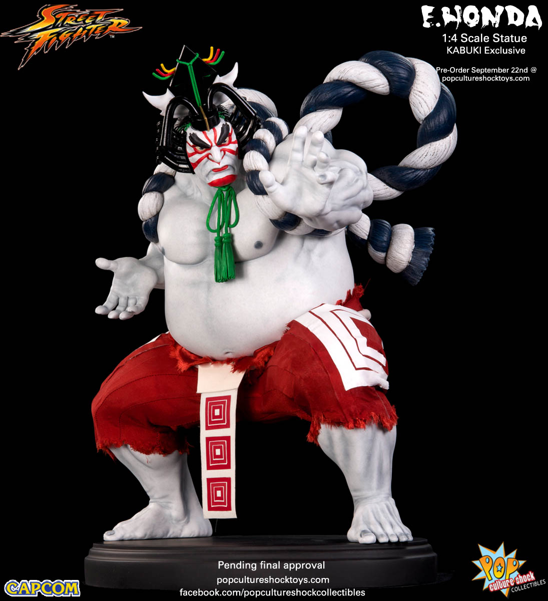 [Pop Culture Shock] Street Fighter: E. Honda 1/4 Statue - Página 3 Street-Fighter-E.-Honda-Kabuki-Statue-002