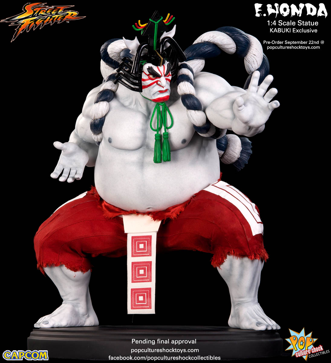 [Pop Culture Shock] Street Fighter: E. Honda 1/4 Statue - Página 3 Street-Fighter-E.-Honda-Kabuki-Statue-003