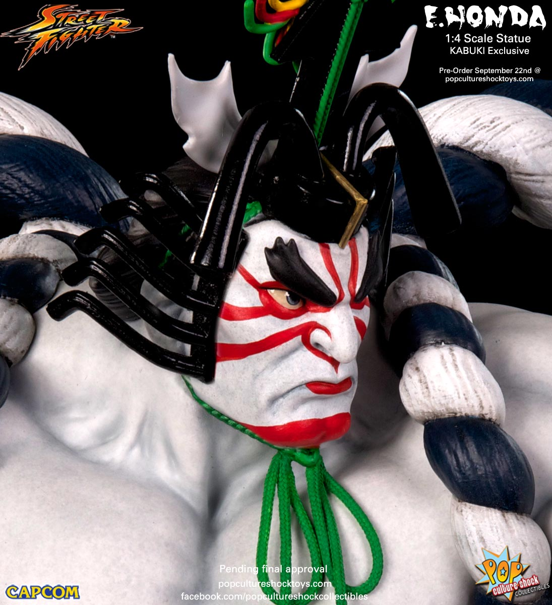 [Pop Culture Shock] Street Fighter: E. Honda 1/4 Statue - Página 3 Street-Fighter-E.-Honda-Kabuki-Statue-020