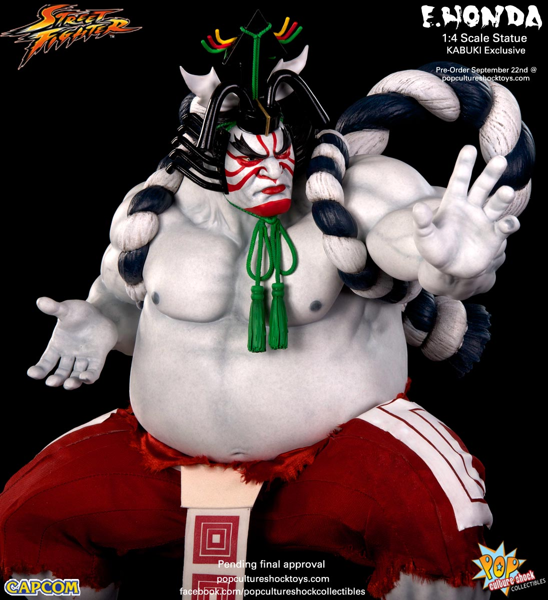 [Pop Culture Shock] Street Fighter: E. Honda 1/4 Statue - Página 3 Street-Fighter-E.-Honda-Kabuki-Statue-026