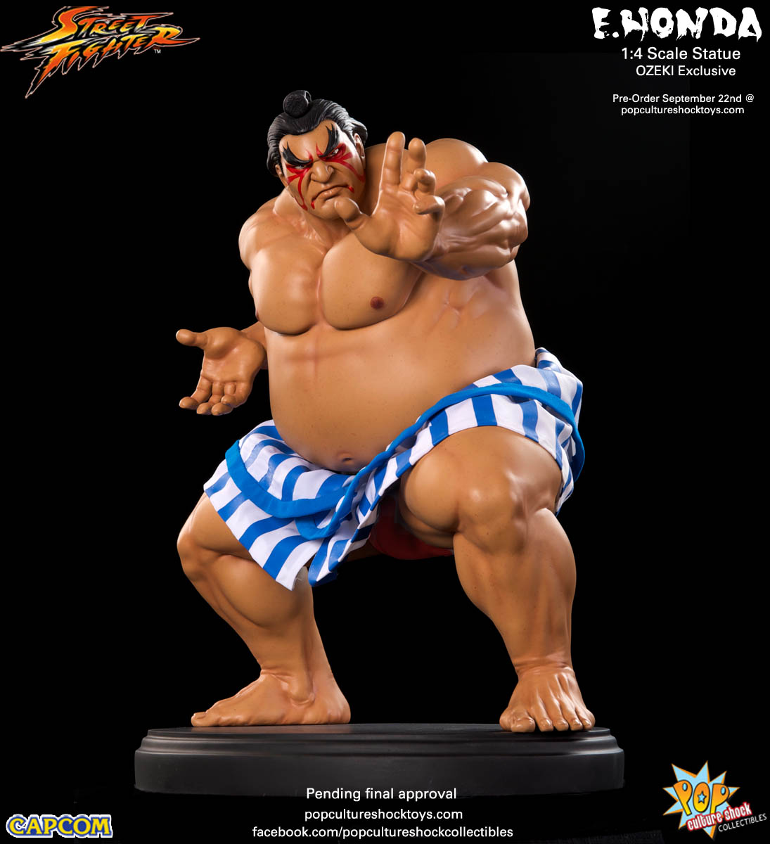 [Pop Culture Shock] Street Fighter: E. Honda 1/4 Statue - Página 3 Street-Fighter-E.-Honda-ozeki-Statue-002