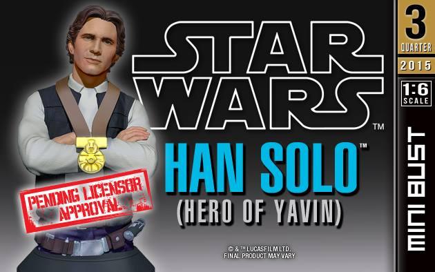 "[Gentle Giant] Star Wars: Han Solo ""Hero of  Yavin"" - Mini Bust Han-Solo-Hero-of-Yavin-Mini-Bust-1"