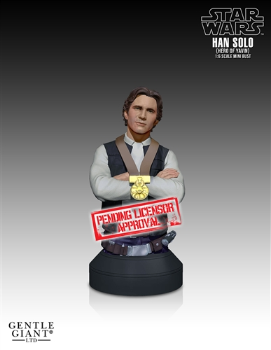 "[Gentle Giant] Star Wars: Han Solo ""Hero of  Yavin"" - Mini Bust Han-Solo-Hero-of-Yavin-Mini-Bust-2"