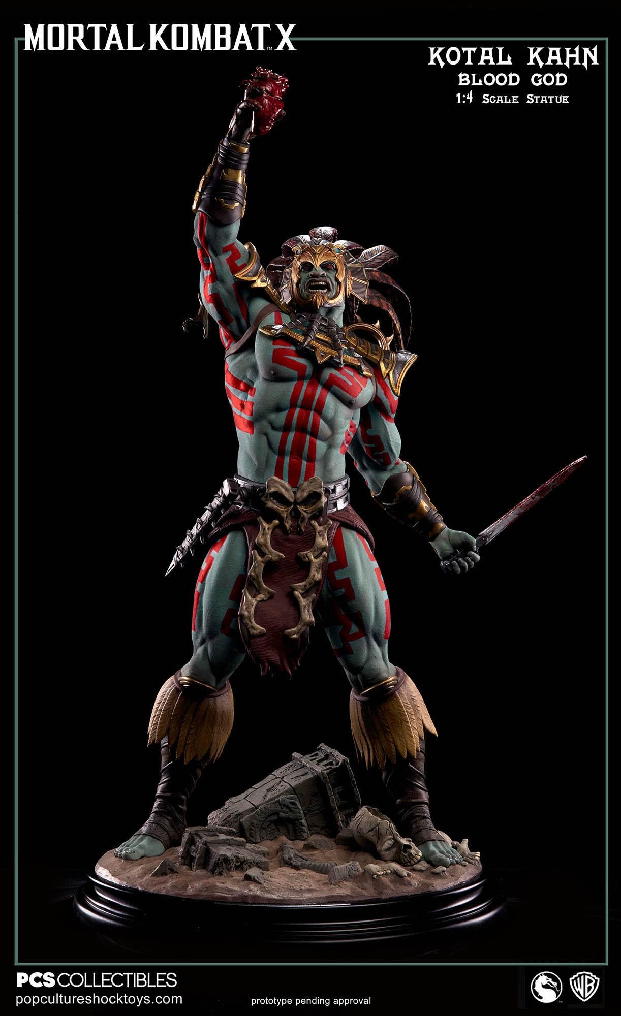 [Pop Culture Shock] Mortal Kombat X: Kotal Kahn 1:4 scale PCS-Kotal-Kahn-Blood-God-002