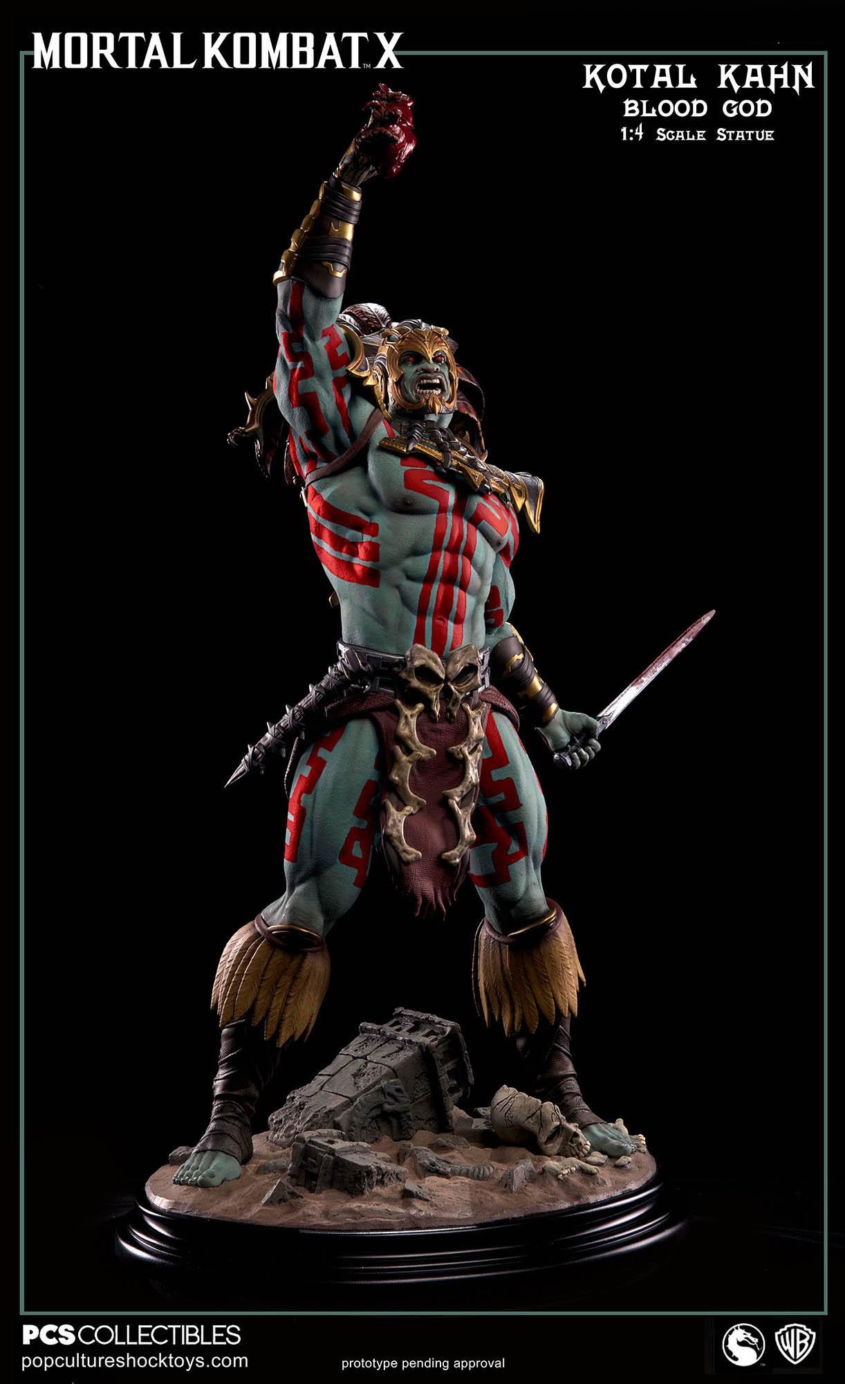 [Pop Culture Shock] Mortal Kombat X: Kotal Kahn 1:4 scale PCS-Kotal-Kahn-Blood-God-003