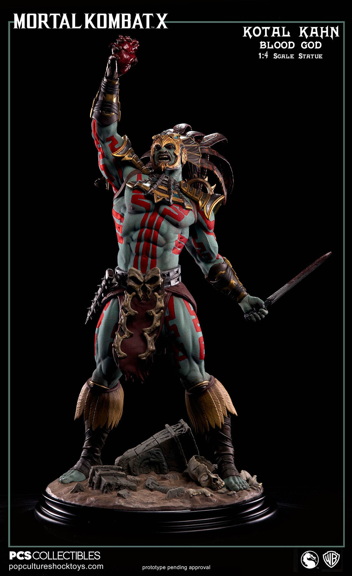 [Pop Culture Shock] Mortal Kombat X: Kotal Kahn 1:4 scale PCS-Kotal-Kahn-Blood-God-004