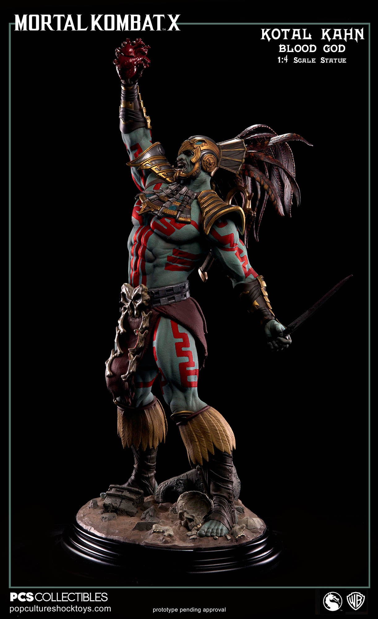[Pop Culture Shock] Mortal Kombat X: Kotal Kahn 1:4 scale PCS-Kotal-Kahn-Blood-God-005