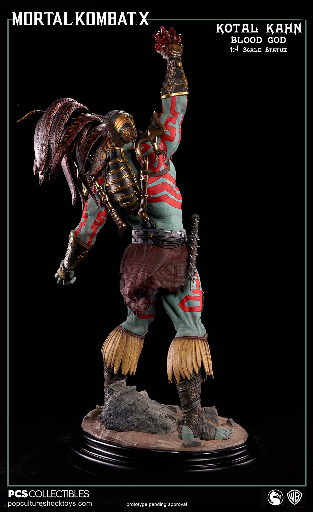 [Pop Culture Shock] Mortal Kombat X: Kotal Kahn 1:4 scale PCS-Kotal-Kahn-Blood-God-006
