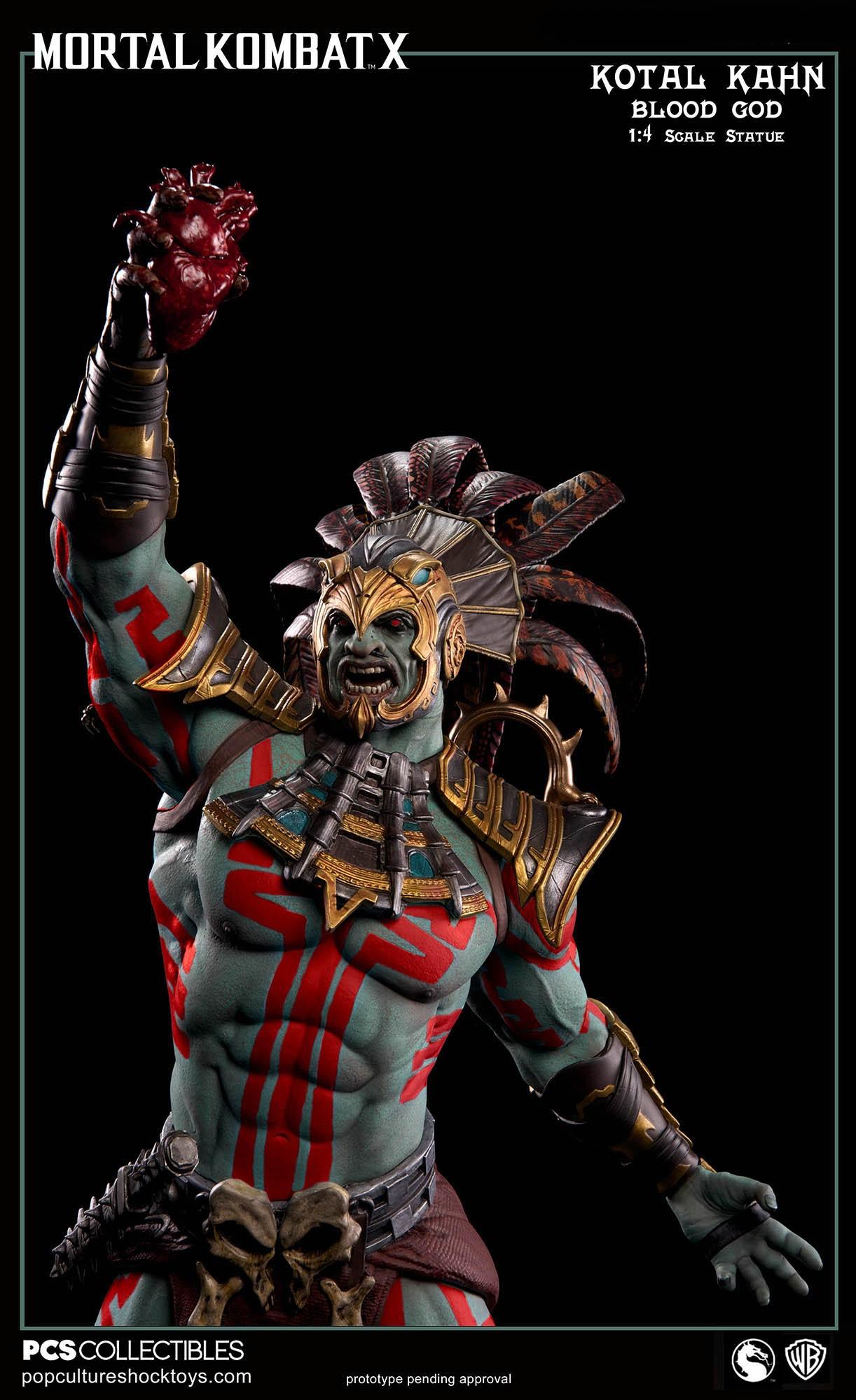 [Pop Culture Shock] Mortal Kombat X: Kotal Kahn 1:4 scale PCS-Kotal-Kahn-Blood-God-009