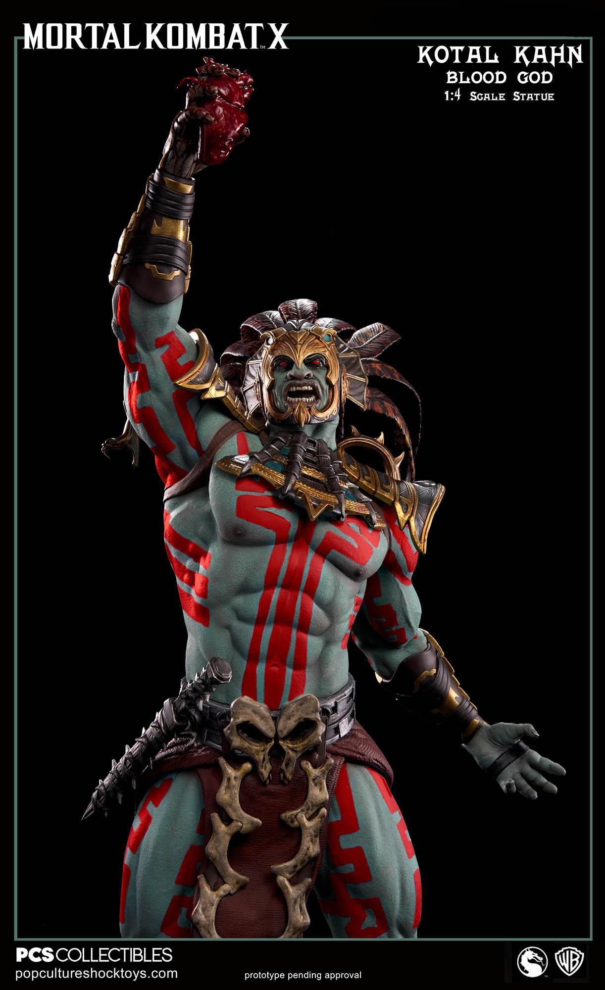 [Pop Culture Shock] Mortal Kombat X: Kotal Kahn 1:4 scale PCS-Kotal-Kahn-Blood-God-010