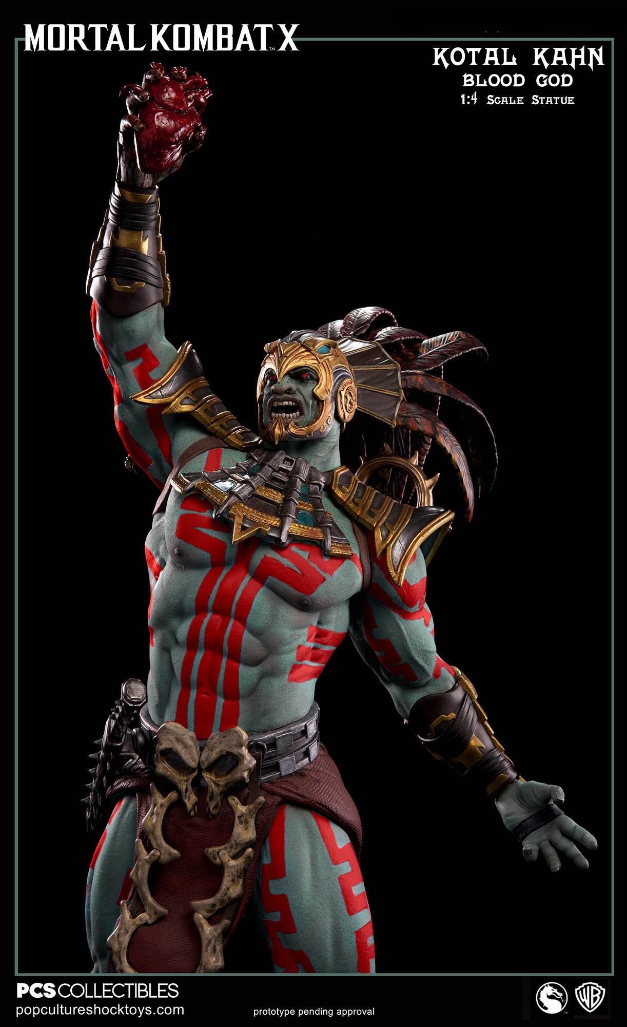 [Pop Culture Shock] Mortal Kombat X: Kotal Kahn 1:4 scale PCS-Kotal-Kahn-Blood-God-011