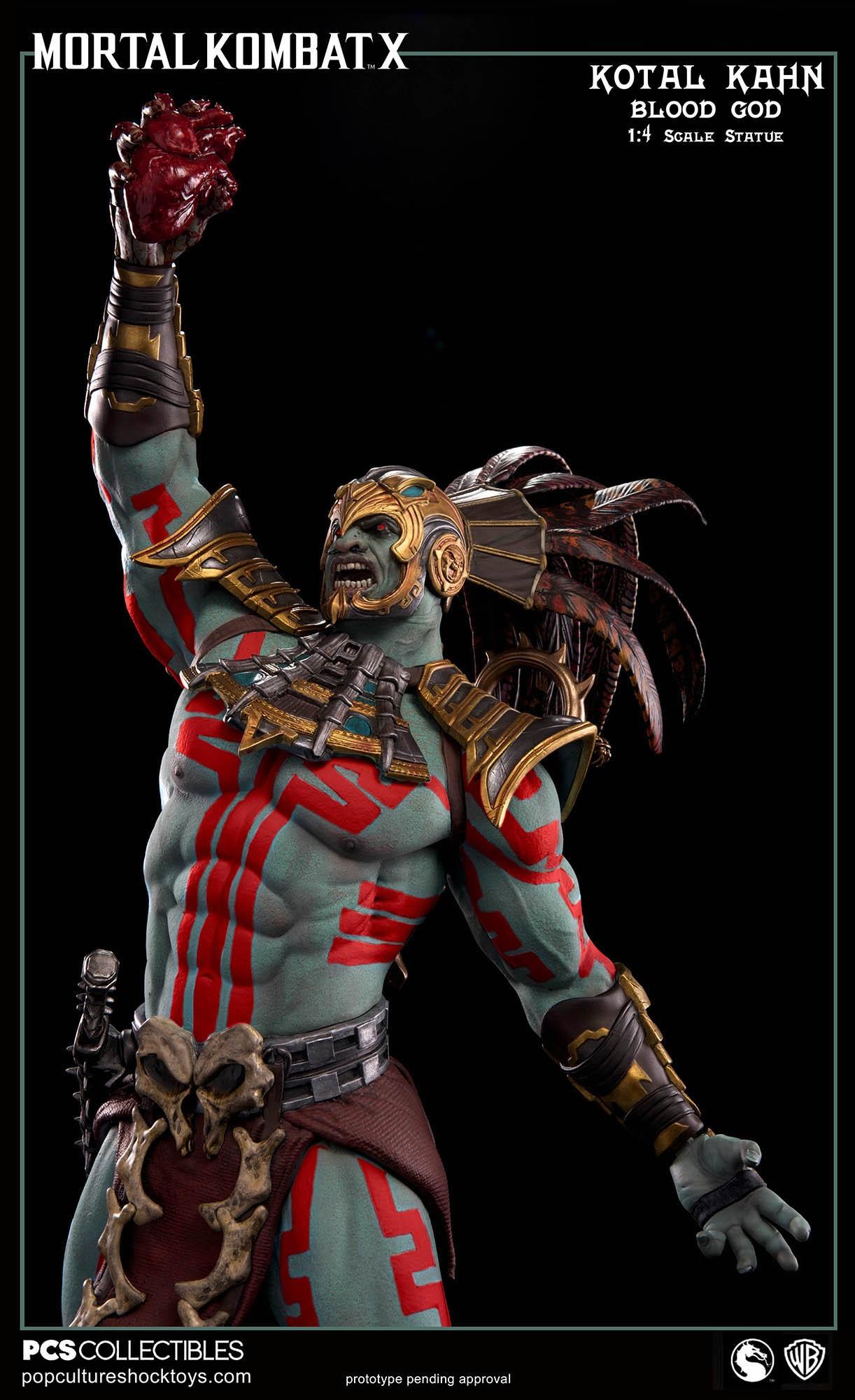 [Pop Culture Shock] Mortal Kombat X: Kotal Kahn 1:4 scale PCS-Kotal-Kahn-Blood-God-012