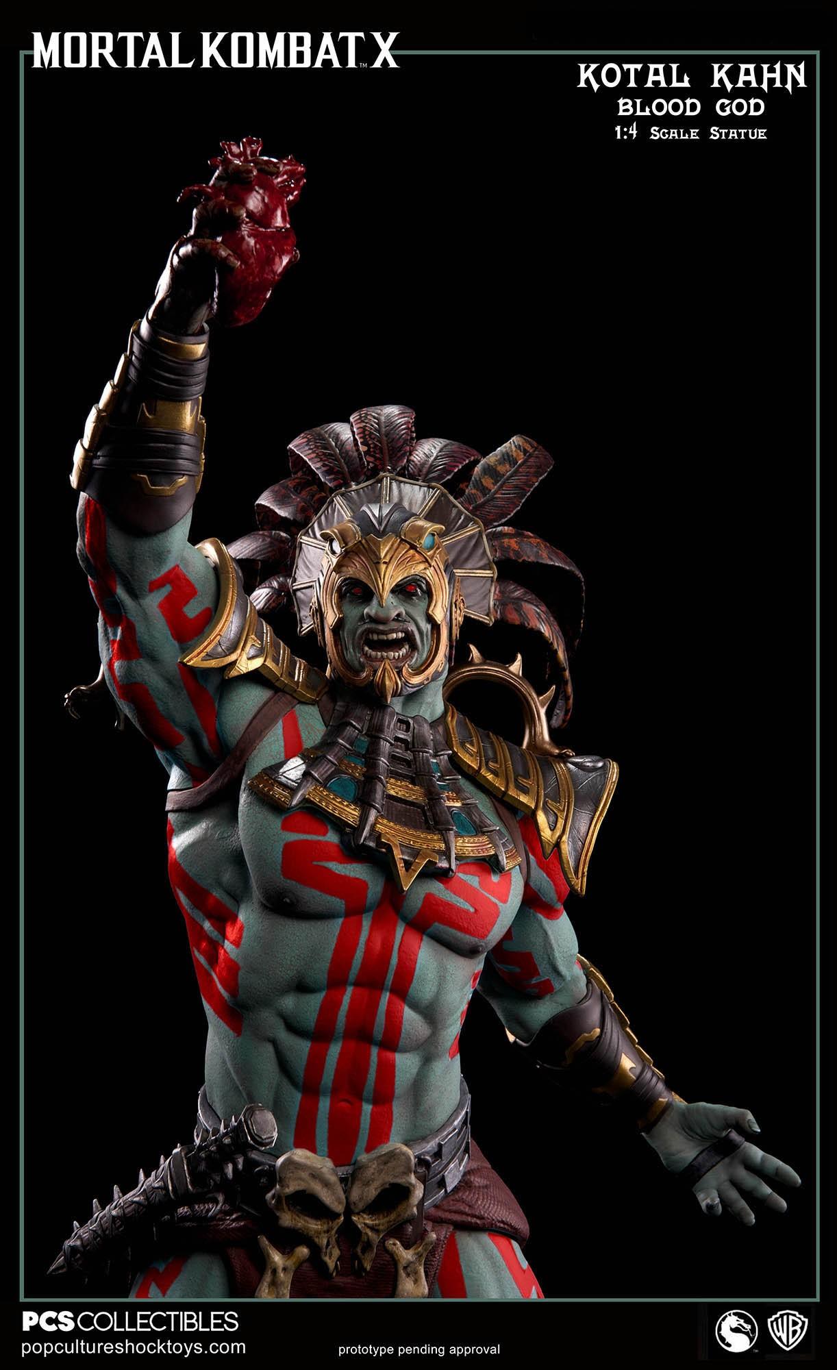[Pop Culture Shock] Mortal Kombat X: Kotal Kahn 1:4 scale PCS-Kotal-Kahn-Blood-God-013
