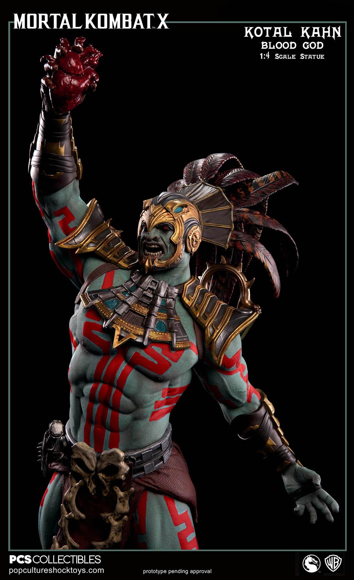 [Pop Culture Shock] Mortal Kombat X: Kotal Kahn 1:4 scale PCS-Kotal-Kahn-Blood-God-014