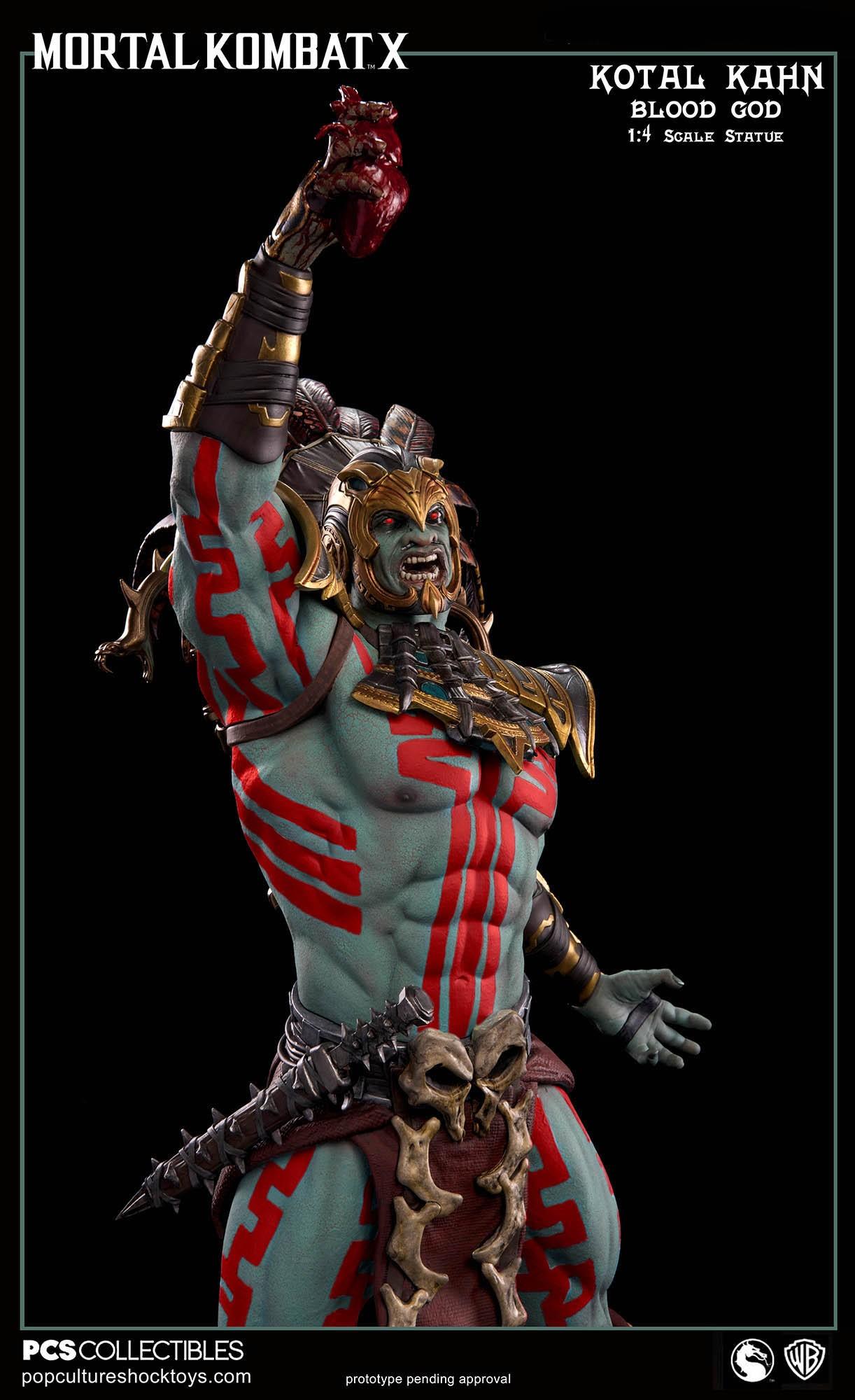 [Pop Culture Shock] Mortal Kombat X: Kotal Kahn 1:4 scale PCS-Kotal-Kahn-Blood-God-015
