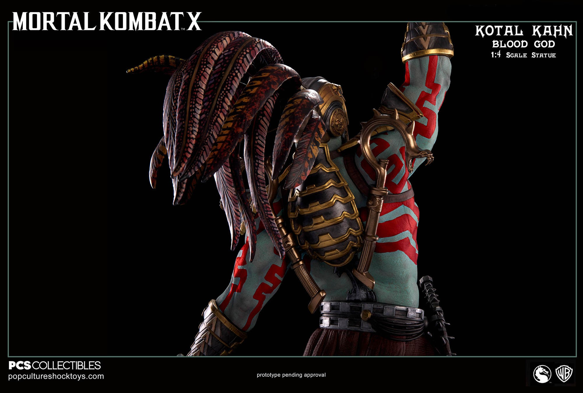 [Pop Culture Shock] Mortal Kombat X: Kotal Kahn 1:4 scale PCS-Kotal-Kahn-Blood-God-016