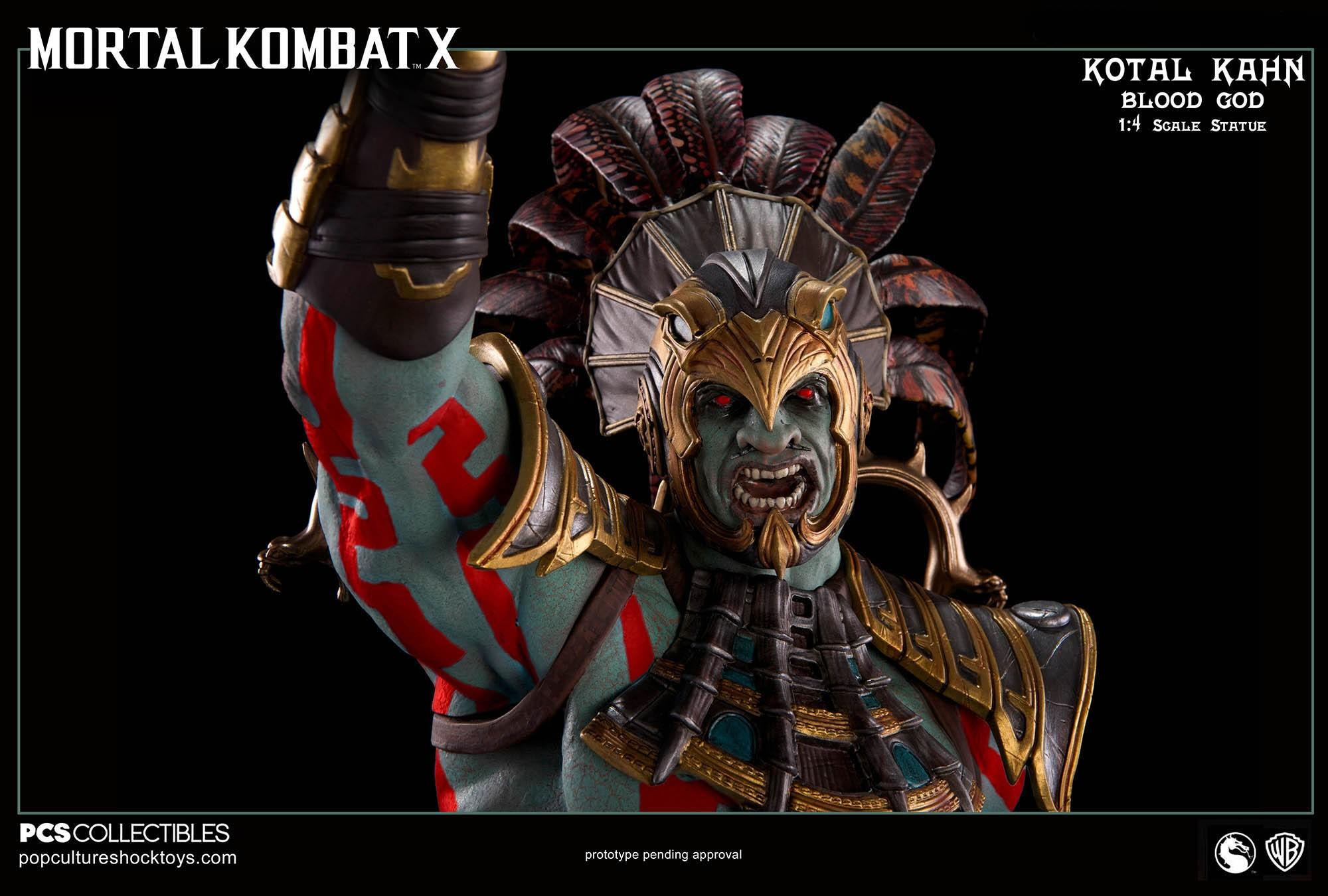 [Pop Culture Shock] Mortal Kombat X: Kotal Kahn 1:4 scale PCS-Kotal-Kahn-Blood-God-017