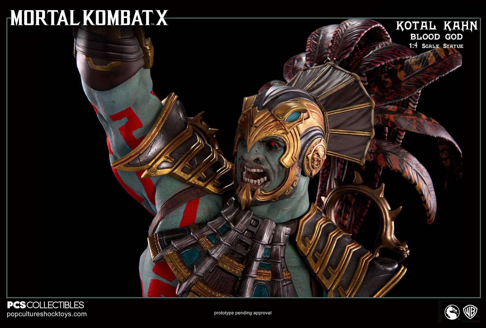 [Pop Culture Shock] Mortal Kombat X: Kotal Kahn 1:4 scale PCS-Kotal-Kahn-Blood-God-018