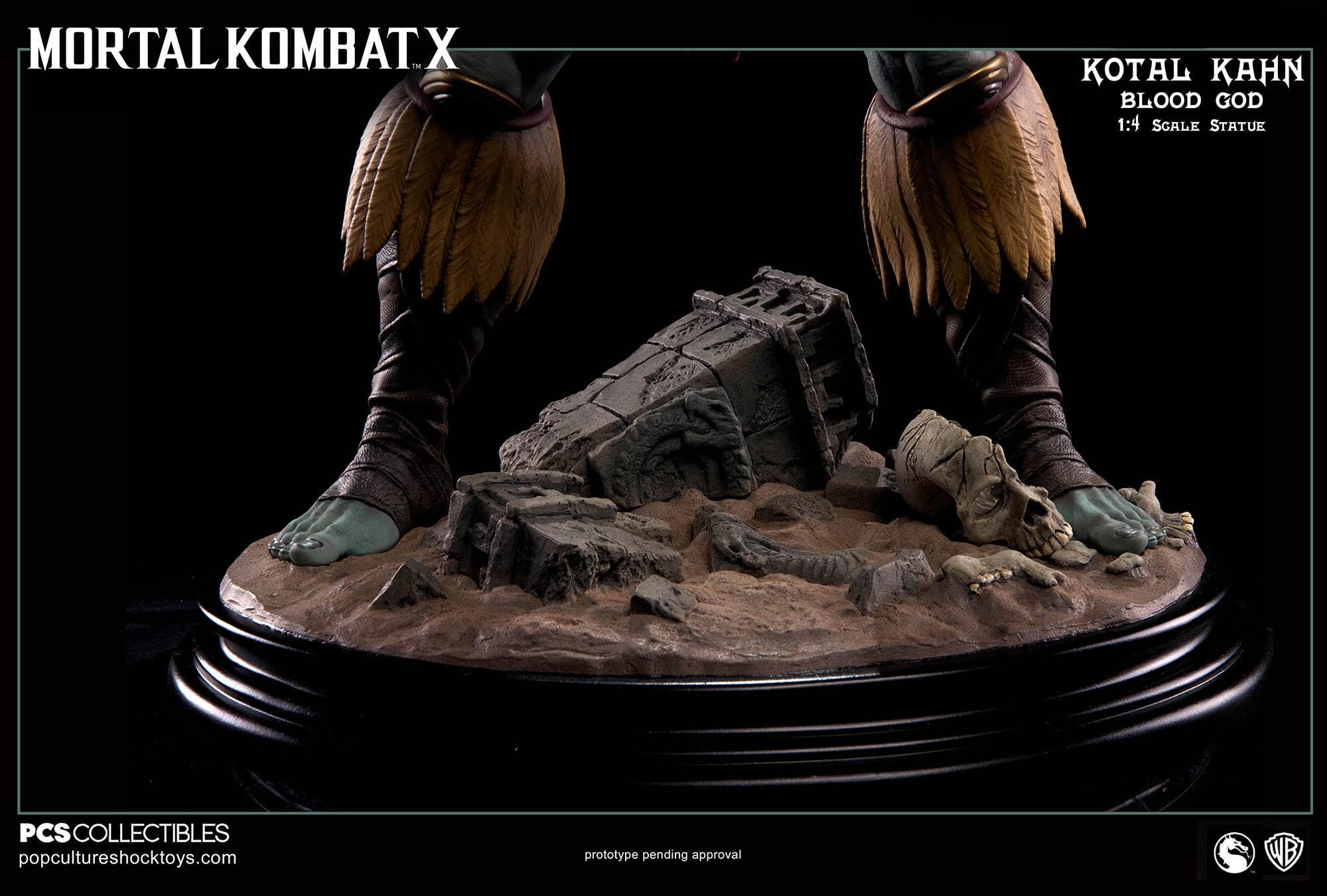 [Pop Culture Shock] Mortal Kombat X: Kotal Kahn 1:4 scale PCS-Kotal-Kahn-Blood-God-019