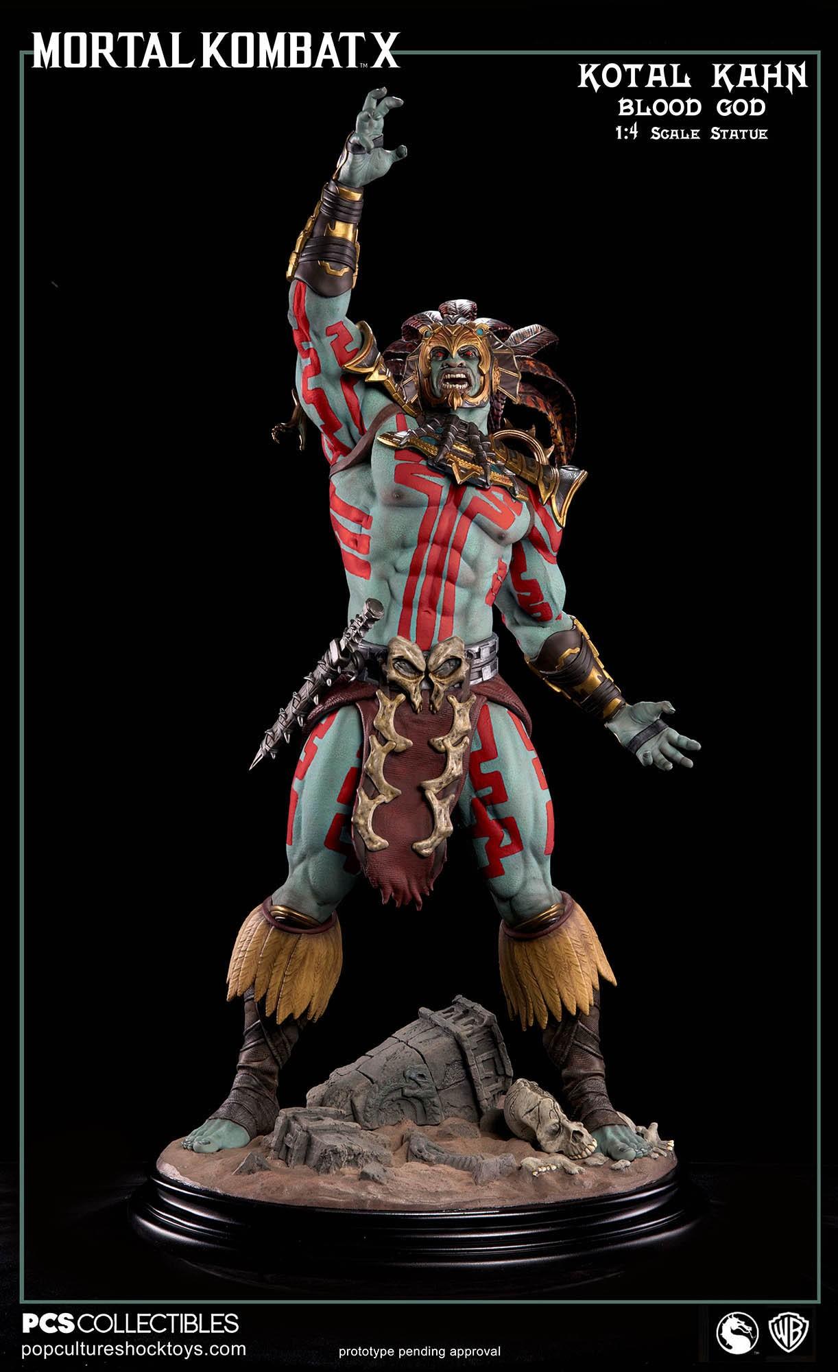 [Pop Culture Shock] Mortal Kombat X: Kotal Kahn 1:4 scale PCS-Kotal-Kahn-Blood-God-022