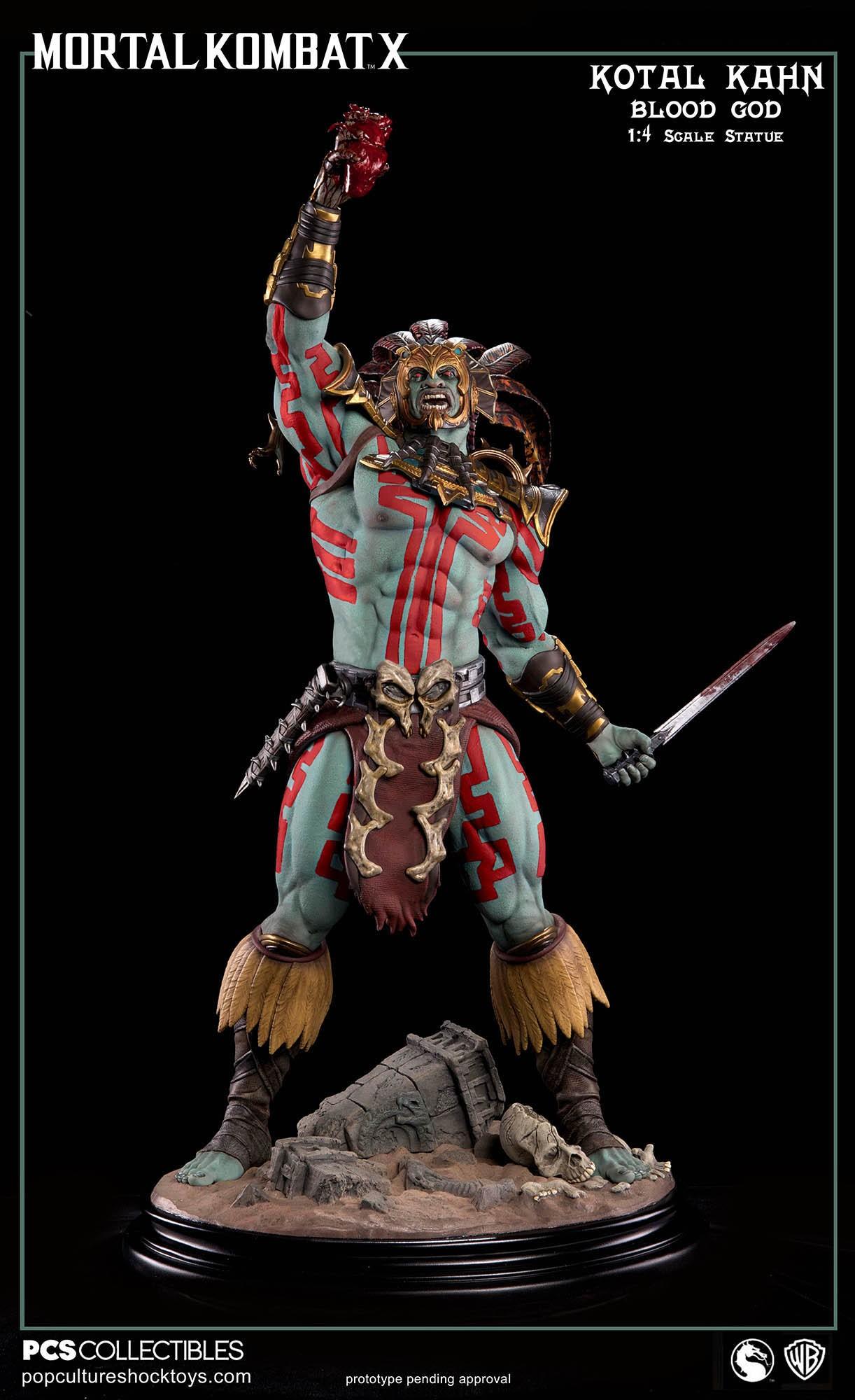 [Pop Culture Shock] Mortal Kombat X: Kotal Kahn 1:4 scale PCS-Kotal-Kahn-Blood-God-023