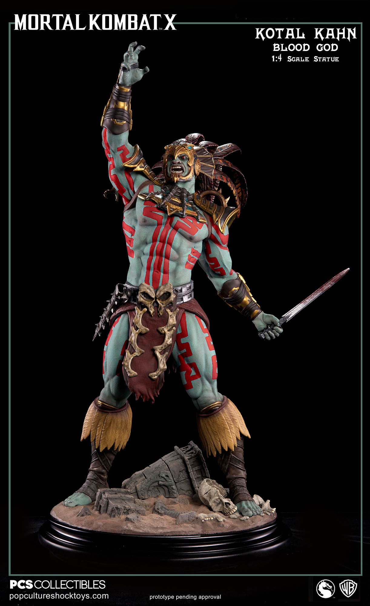 [Pop Culture Shock] Mortal Kombat X: Kotal Kahn 1:4 scale PCS-Kotal-Kahn-Blood-God-024