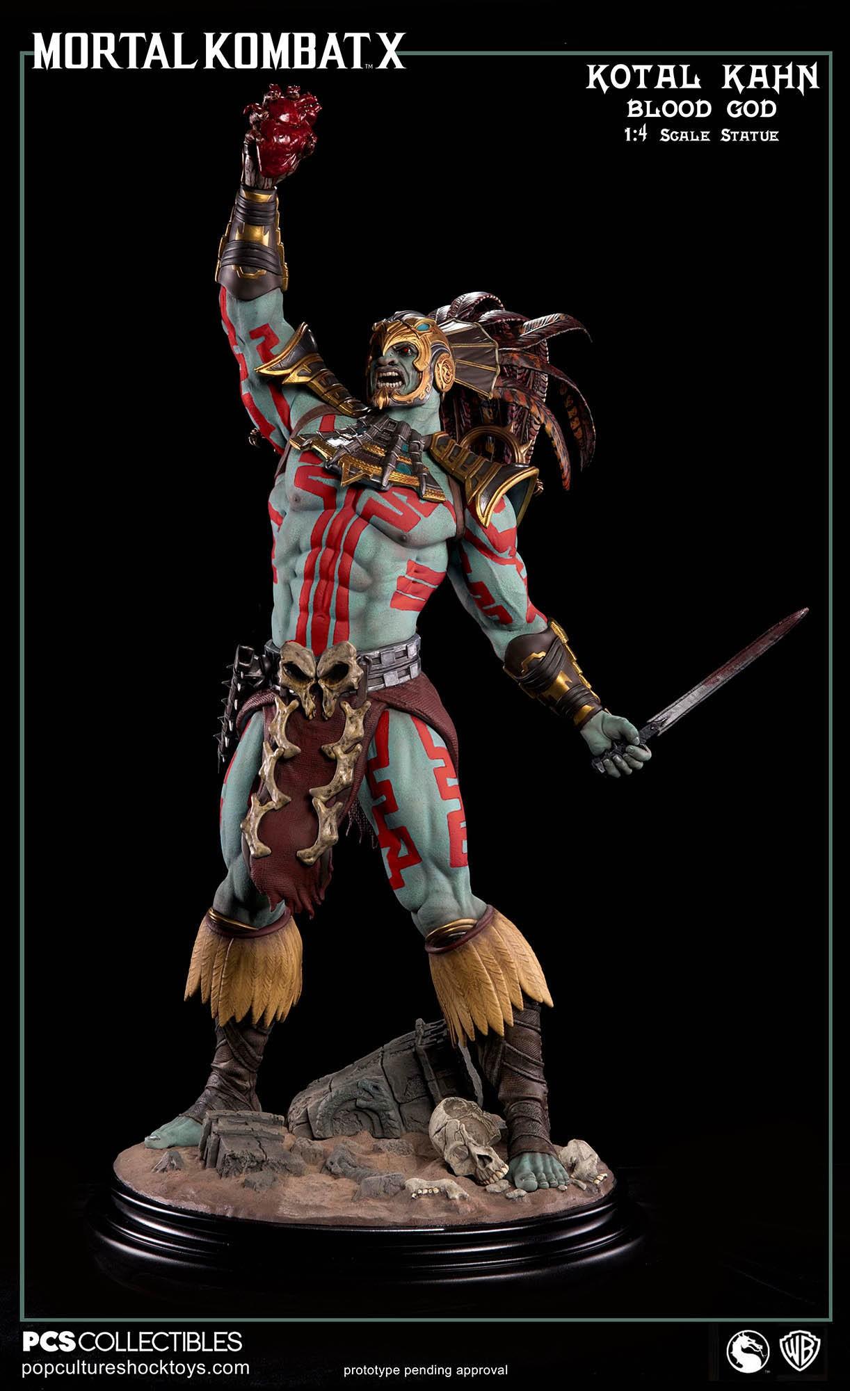 [Pop Culture Shock] Mortal Kombat X: Kotal Kahn 1:4 scale PCS-Kotal-Kahn-Blood-God-025