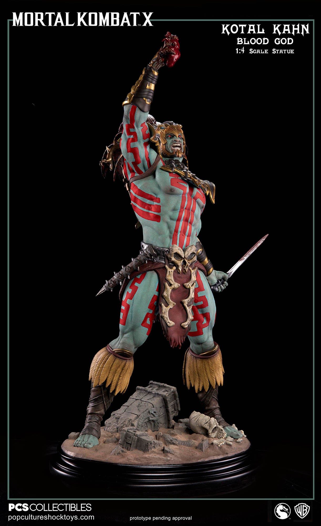 [Pop Culture Shock] Mortal Kombat X: Kotal Kahn 1:4 scale PCS-Kotal-Kahn-Blood-God-026