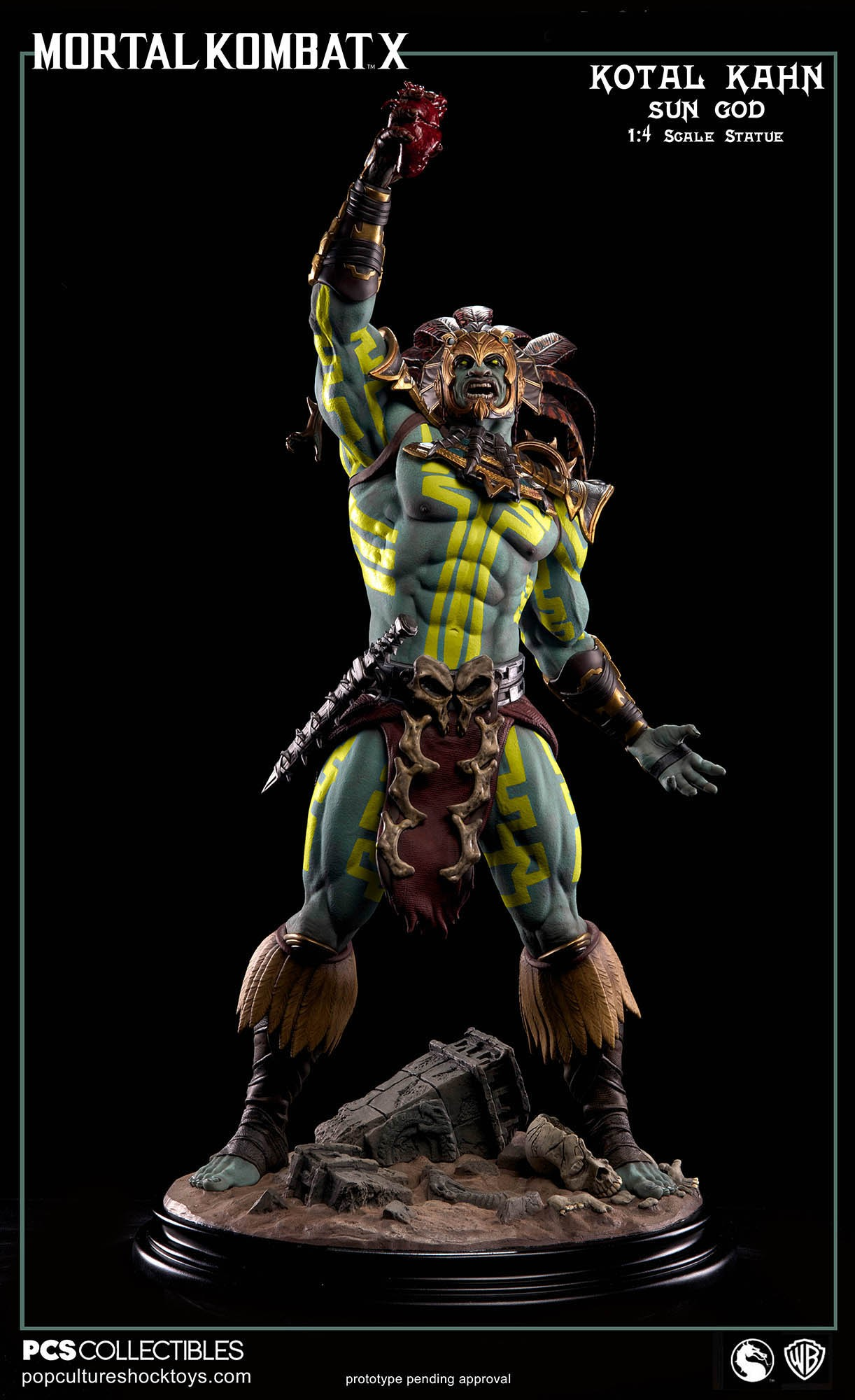 [Pop Culture Shock] Mortal Kombat X: Kotal Kahn 1:4 scale PCS-Kotal-Kahn-Sun-God-003