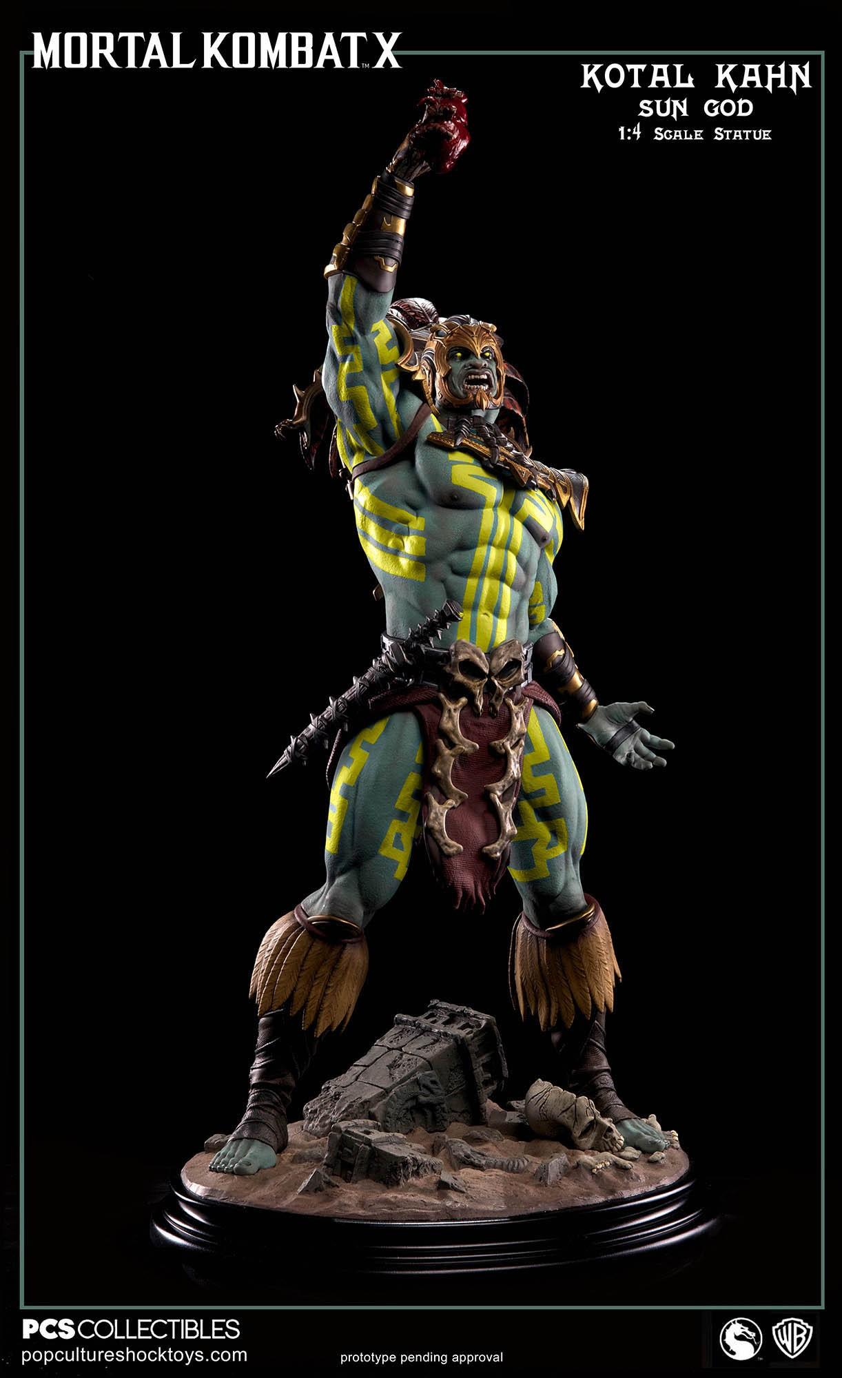 [Pop Culture Shock] Mortal Kombat X: Kotal Kahn 1:4 scale PCS-Kotal-Kahn-Sun-God-004